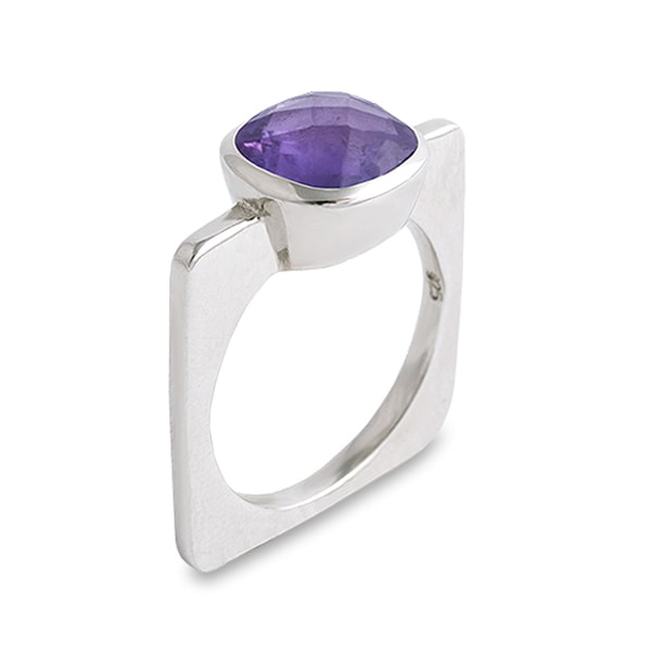 Amethyst Square Ring