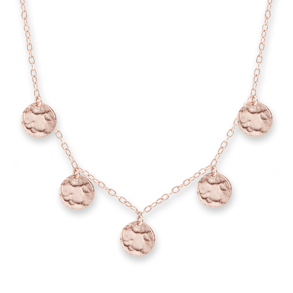 Rose Gold Scattered Jingle Necklace