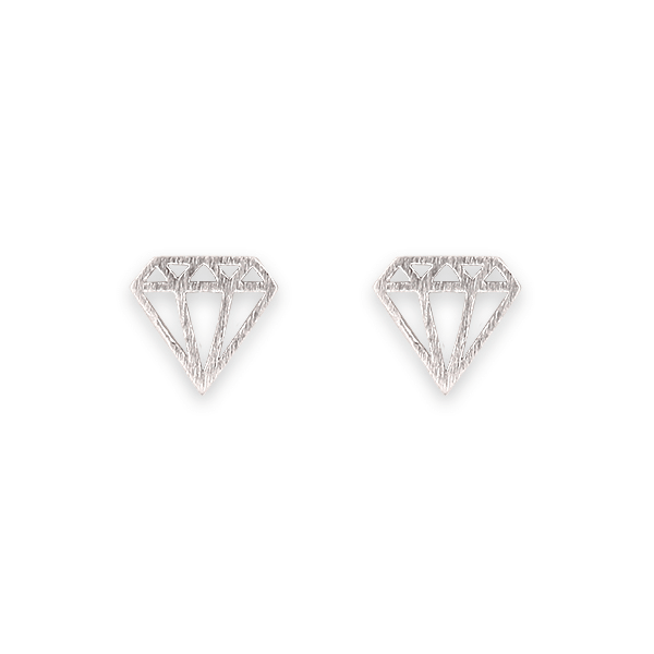Satin Finish Diamond Shape Earrings