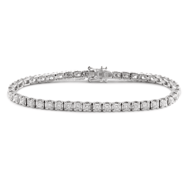 Claw Set Diamond Tennis Bracelet 3.85ct
