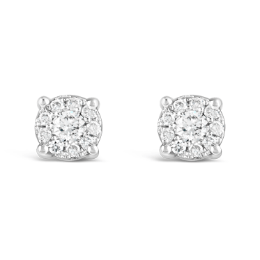 Illusion Set Diamond Stud Earrings