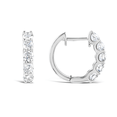 Claw Set Diamond Huggie Earrings
