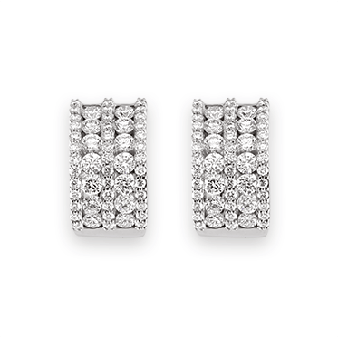 Claw & Channel Set Diamond Earrings
