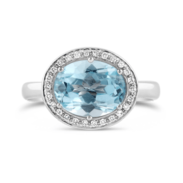 Aquamarine, Tourmaline and Diamond Dress Ring