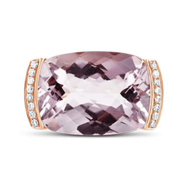 Rose Gold, Pink Amethyst & Diamond Ring