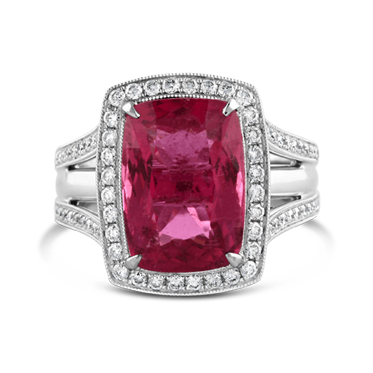 Rubelite and Diamond Dress Ring