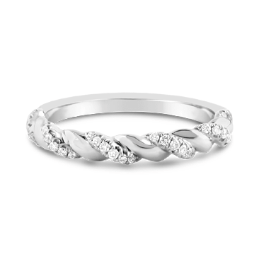 White Gold Twist Diamond Ring