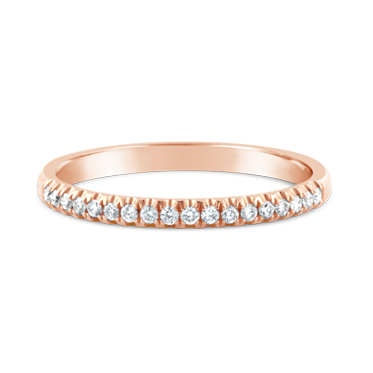 Rose Gold Claw Set Diamond Ring