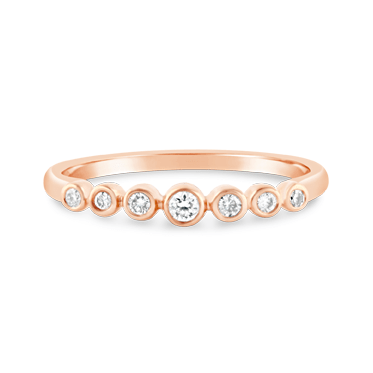 Rose Gold Bezel Set Diamond Ring